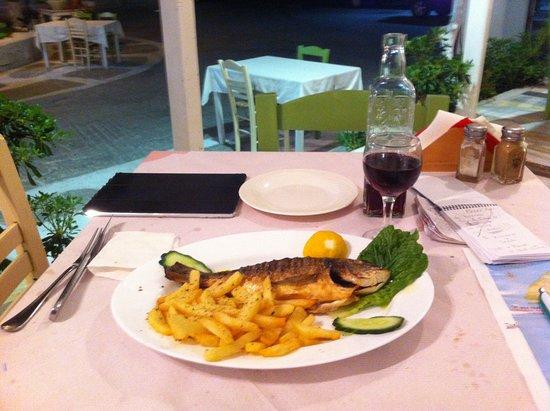 Merichas, اليونان: dorade grillé