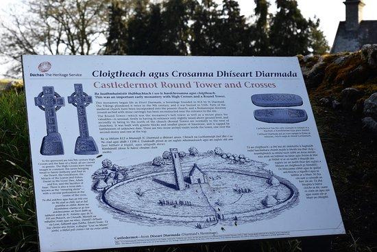 Castledermot, أيرلندا: Informational signage helps if you arrive after hours