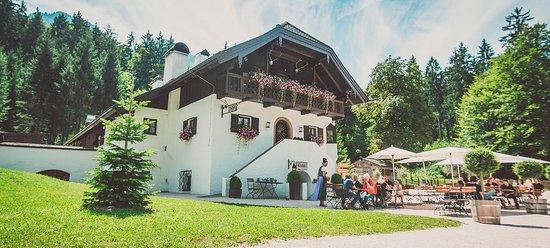 Grossgmain, النمسا: Gastgarten 