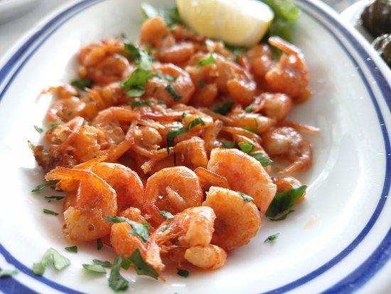 Kalathos, اليونان: Mini shrimps from Lindos