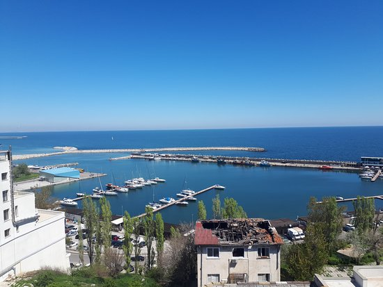 the touristic harbor, a good place to eat, also