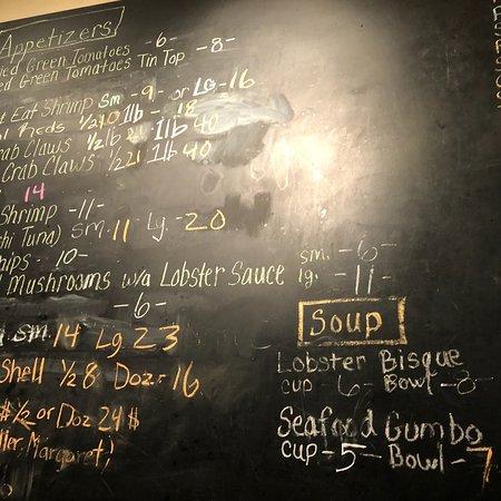 Tin Top Restaurant Amp Oyster Bar Bon Secour Menu Prices