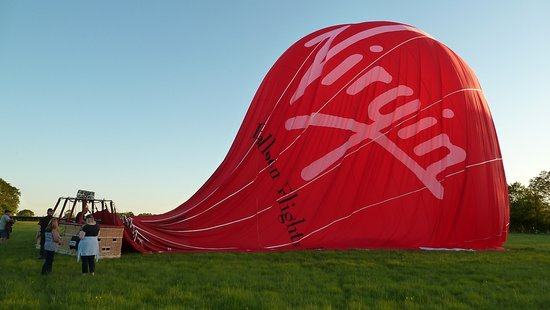 Headcorn, UK: Just after landing
