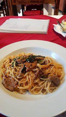 Vittorio Trattoria: Spaguetti com filé