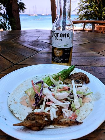 Water Island, St. Thomas: Fish taco in paradise