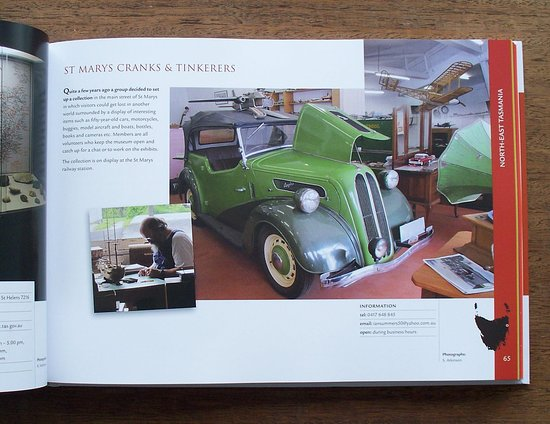 St Marys Cranks and Tinkerers Museum as featured in the Island Treasures book.
