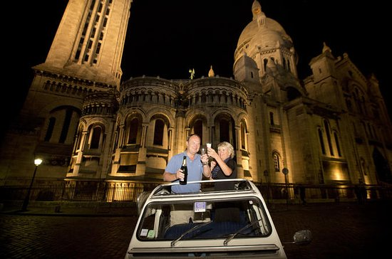 Paris og Montmartre om natten tur i...