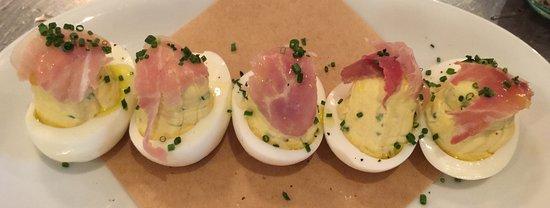 Jct S Deviled Eggs With Benton Country Ham Picture Of Jct Kitchen Atlanta Tripadvisor