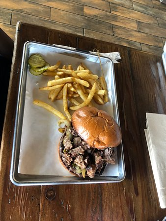 Norco, CA: brisket burger and fries