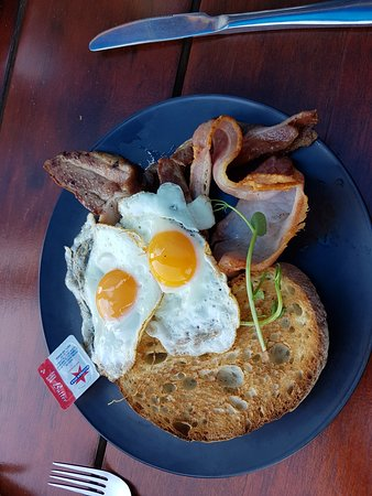 Byford, Australia: Egging Around with added Bacon $16
