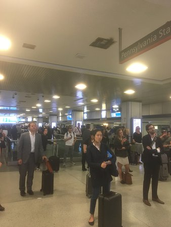 Penn Station: Crowds as usual