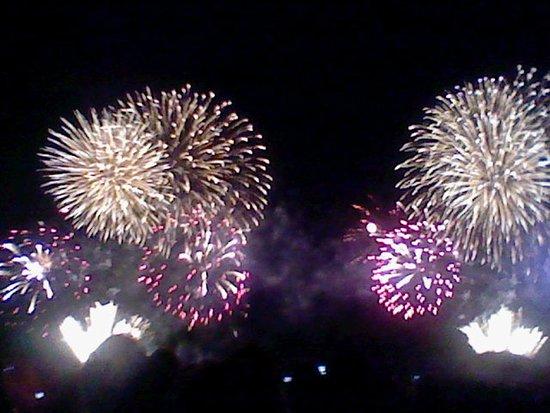 Fuji, اليابان: 祭りのフィナーレの花火