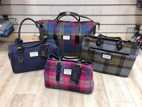 Selection Of Harris Tweed Handbags Picture
