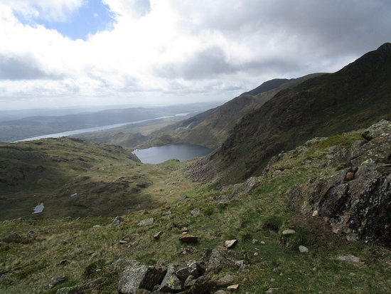 Coniston, UK: Levers Water (and Coniston Water) from Prison Band