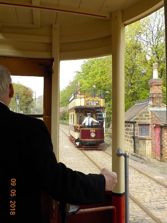 Sheriff Lodge: Old school tram ride at Crich