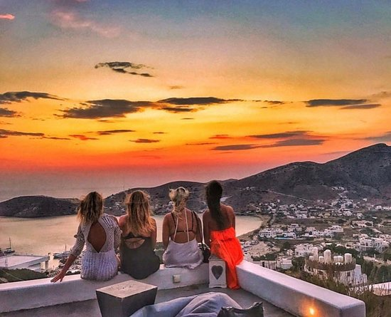 Chora, Greece: Ios Club sunset!