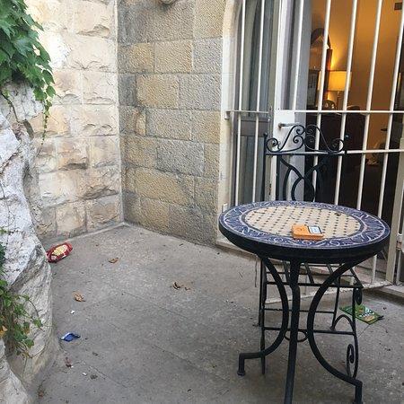 Mount Zion Hotel: La propreté de la terrasse de la chambre