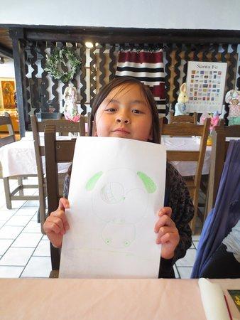 Rancho de Chimayo Restaurante: Panda Picture!