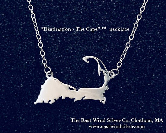 "Chatham, MA: ""Destination - The Cape"" ™ sterling necklace"