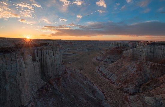Tuba City, Arizona: Sonnenuntergang im Coal Mine Canyon