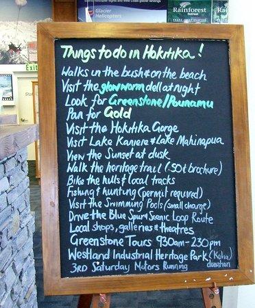 Hokitika i-SITE Visitor Information Centre: Things to do in Hokitika