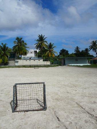 Omadhoo Island: football field