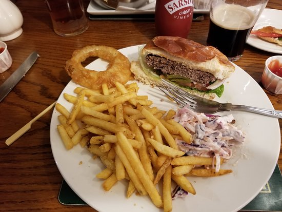 Caldbeck, UK: I forgot to take this until I'd eaten two onion rings and half the burger.