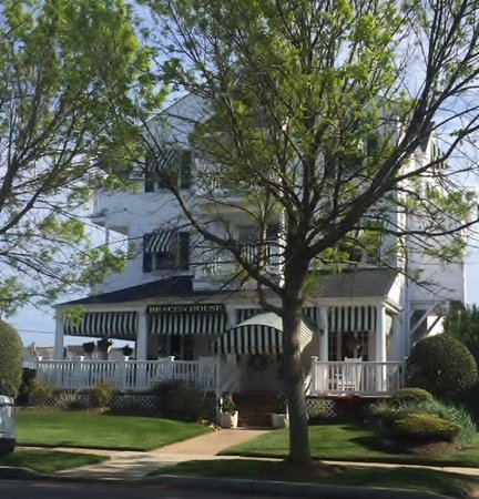 The Beacon House: The wrap around porches catch the sea breezes all day long
