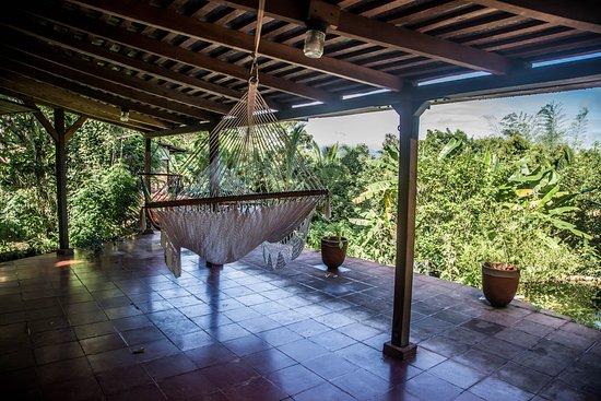 Balgue, Nicaragua: The porch area facing Volcano Conception