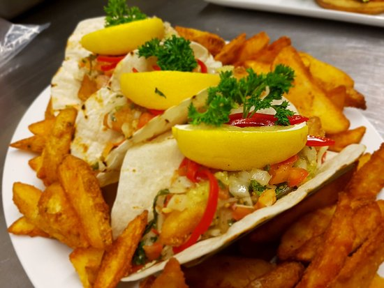 Sun Peaks, Canada: Fish Tacos with Spicy Wedges