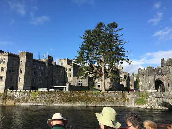 CIE Tours: lovely Ahsford Castle; River Cruis tour. look at the blue sky.