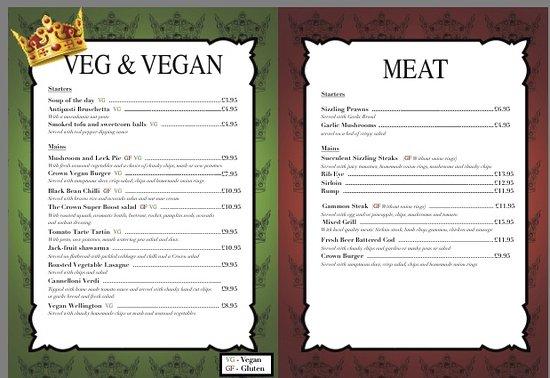 Catton, UK: Offering Vegan/ Vegetarian/ carnivores menu