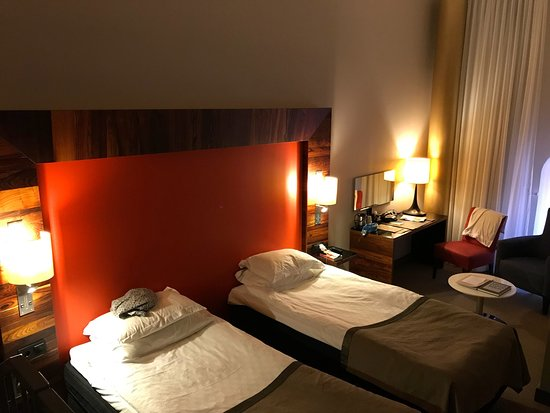 Nacka, Sweden: Room 422 Elite Hotel Marina Tower Stockholm (plus timetable for ferry 80)