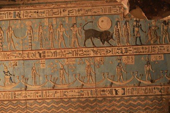 قنا, مصر: Le zodiaque du plafond de Dendérah