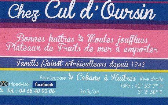 Chez Cul D Oursin Cabane 224 Huitres Rive Droite