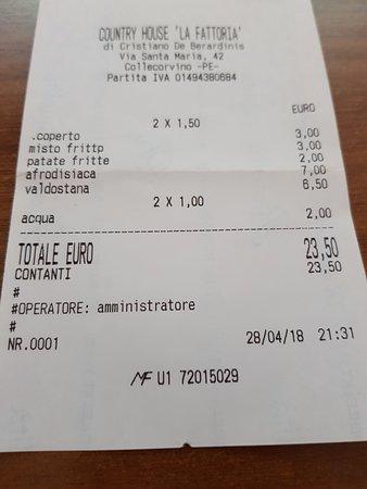 Collecorvino, อิตาลี: conto