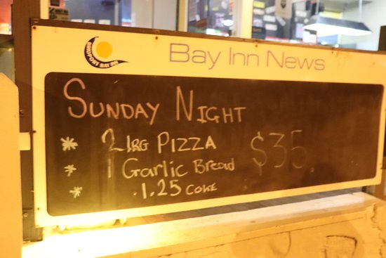 Bridport, Australia: This was the advertisement for the pizzas that were not even on the menu!