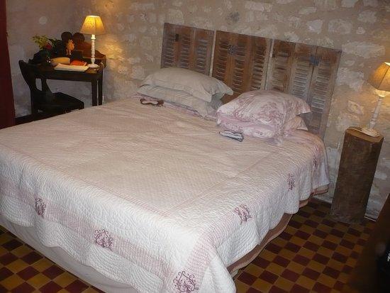 """Charnizay, Francia: la chambre """"Eveillure""""."""
