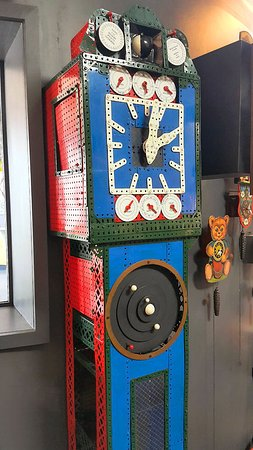 Claphams Clocks - The National Clock Museum: Even a full sized clock made from Meccano