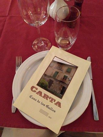 Restaurante Casa de los Gallos: La carta