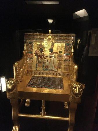 Tutankhamun Exhibition: Golden Throne