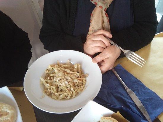 Osteria del Podestà: Fettuccine con funghi prugnoli