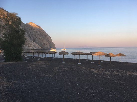 Perissa Beach: La plage au couchant