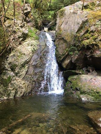 Löffingen, Deutschland: einer der vielen Wasserfälle in der Schlucht