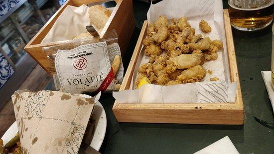 Taberna del Volapie Jaen : unos calamarcitos