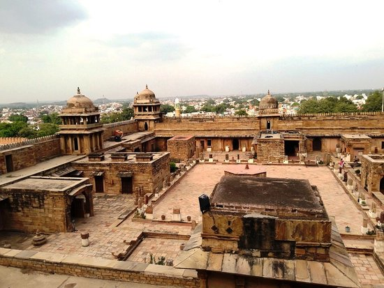 Gujari Mahal Archaeological Museum: View of the museum from top
