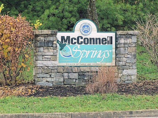 McConnell Springs: sign on road