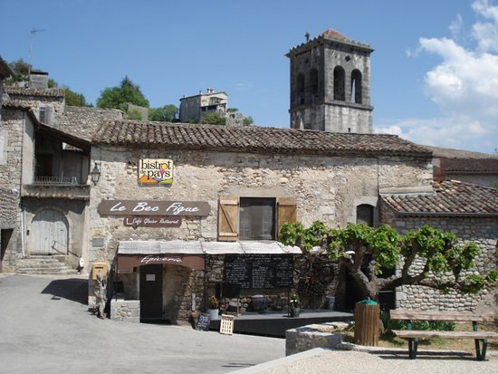 Labeaume, Francia: TERRASSE DU RESTAURANT