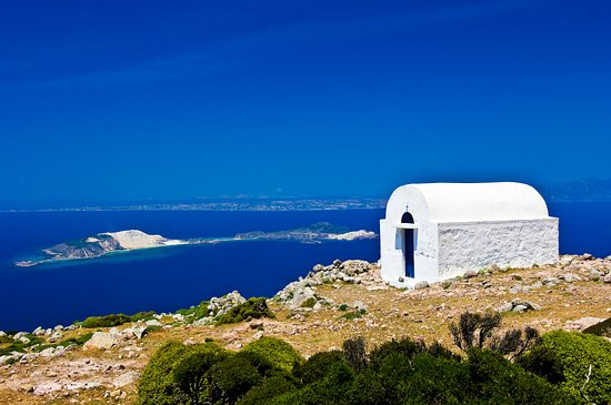 Nisiros, Yunani: The chapel of Profytis Ilias, the highest point of the island