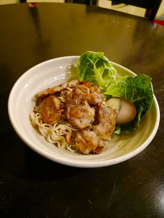Kulim, Malaysia: 烤鸡面 Grilled Chicken Noodle